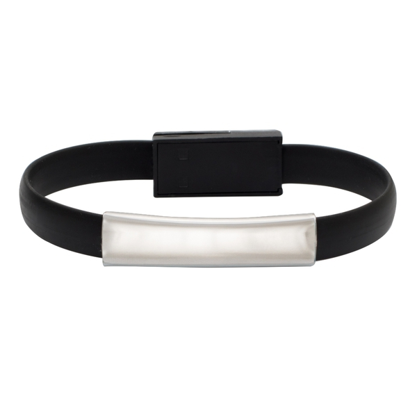 Bracelet USB cable, black photo